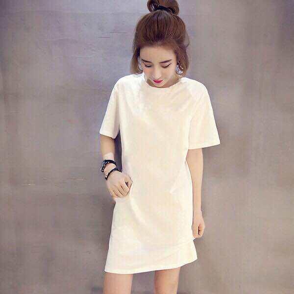 Quần Áo Cho Thai Sản Trang Phục Mùa Hè Mẫu Mới Ngắn Tay 100% Coton Áo Phông Váy Liền Kiểu Lửng Thông Dụng Nổi Danh Trên Mạng Hình Phụ Nữ Mang Thai Áo Mùa Hè thumbnail