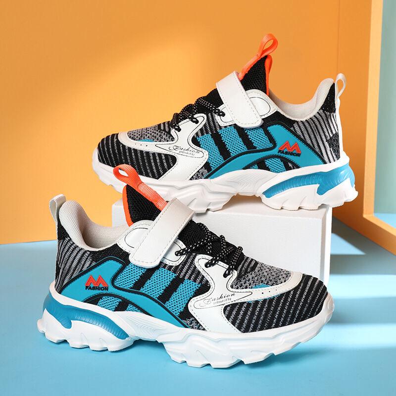 Kéo Trở Lại Giày Mùa Xuân Mới Duy Nhất Giày Lưới Thoáng Khí Trẻ Em Giải Trí Thể Thao Nam Sinh Viên Giày Chạy Bộ Nhẹ Thủy Triều thumbnail