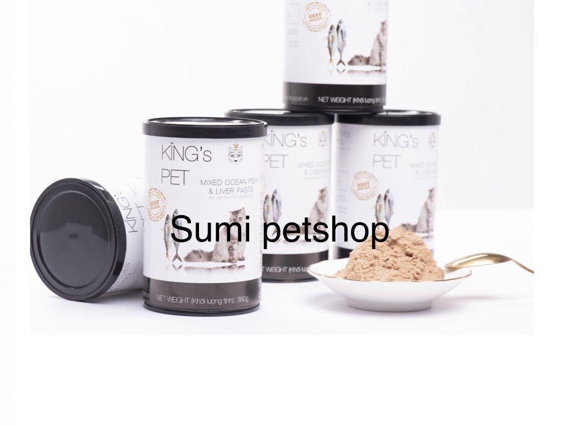 380gr Pate hỗn hợp cá King's Pet - Thức ăn cho chó mèo