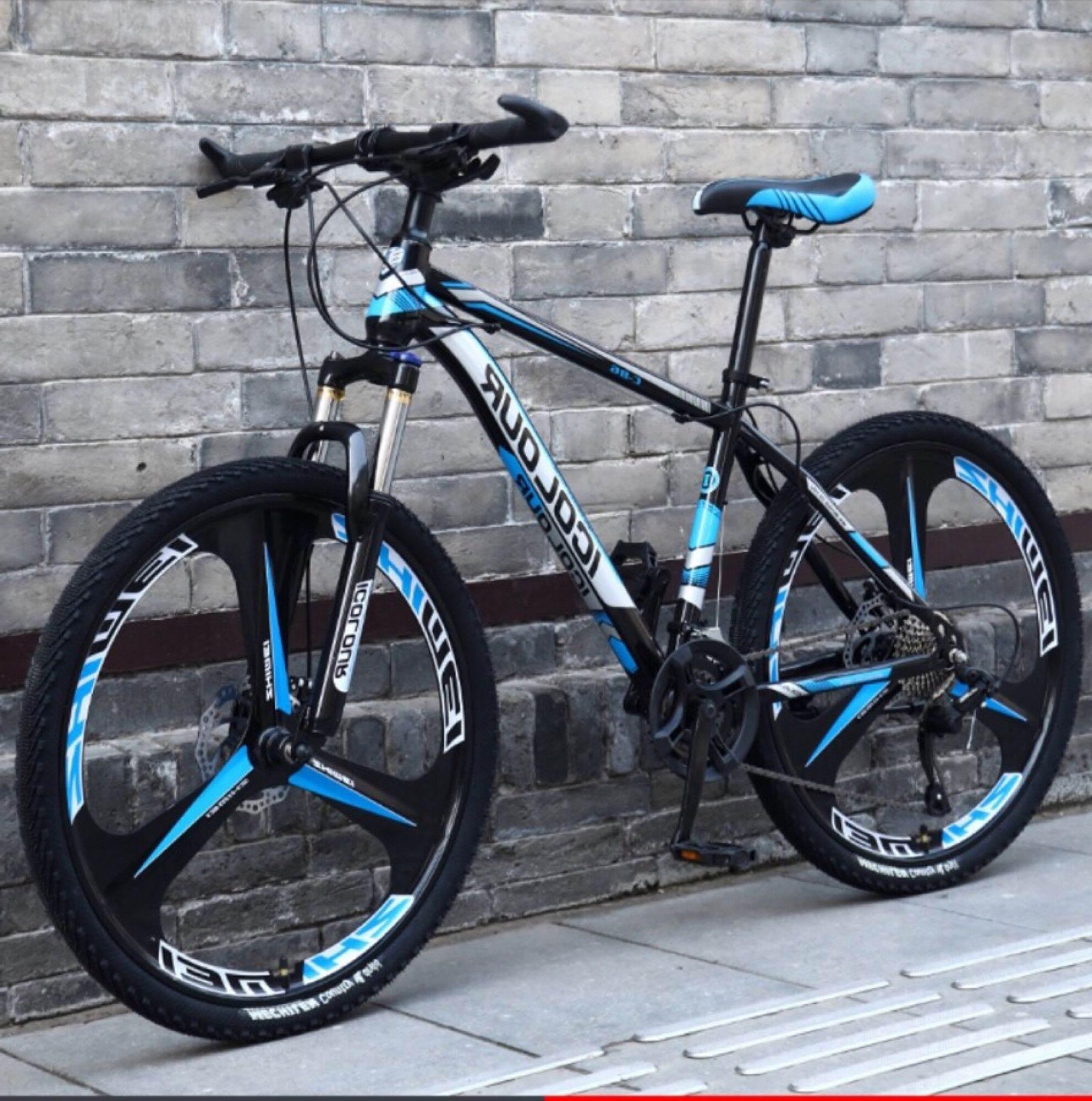 Mua Xe đạp leo núi nam xe đạp địa hình tốc độ biến thiên giảm xóc đôi xe đua nhẹ 26 icnh