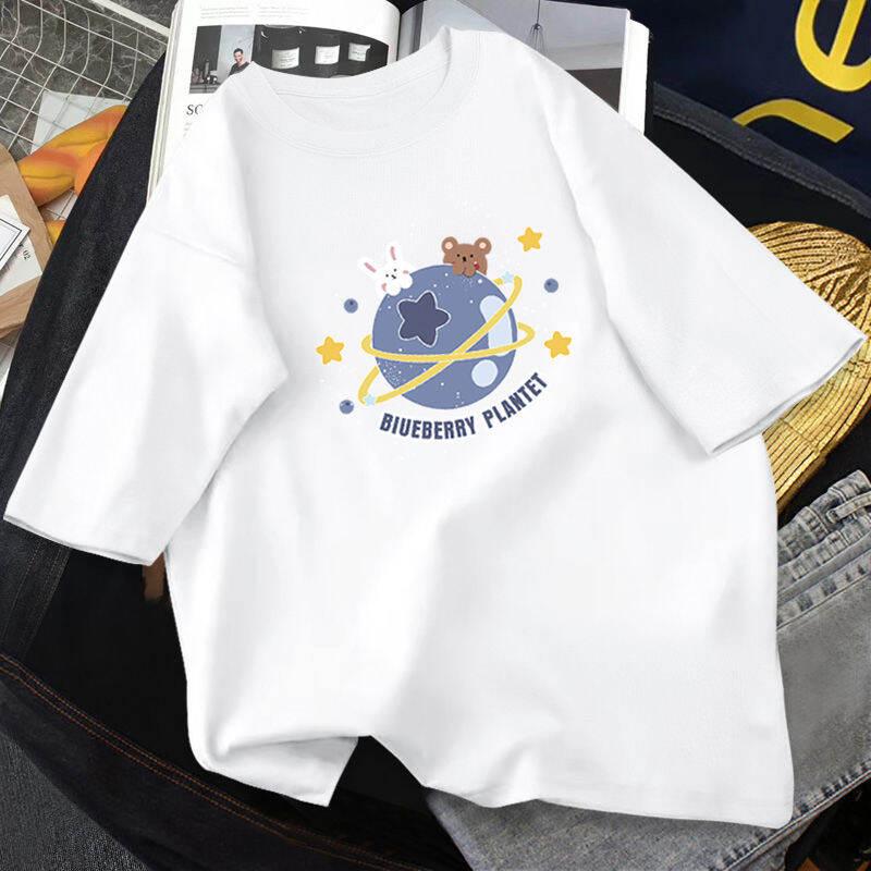 Bé Gái Ngắn Tay Áo Phông Bộ 12 Tuổi 2021 Mẫu Mới 13 Tím 15 Màu Hồng 16 Trang Phục Mùa Hè 100% Coton Đen Tay Lỡ Thủy Triều thumbnail