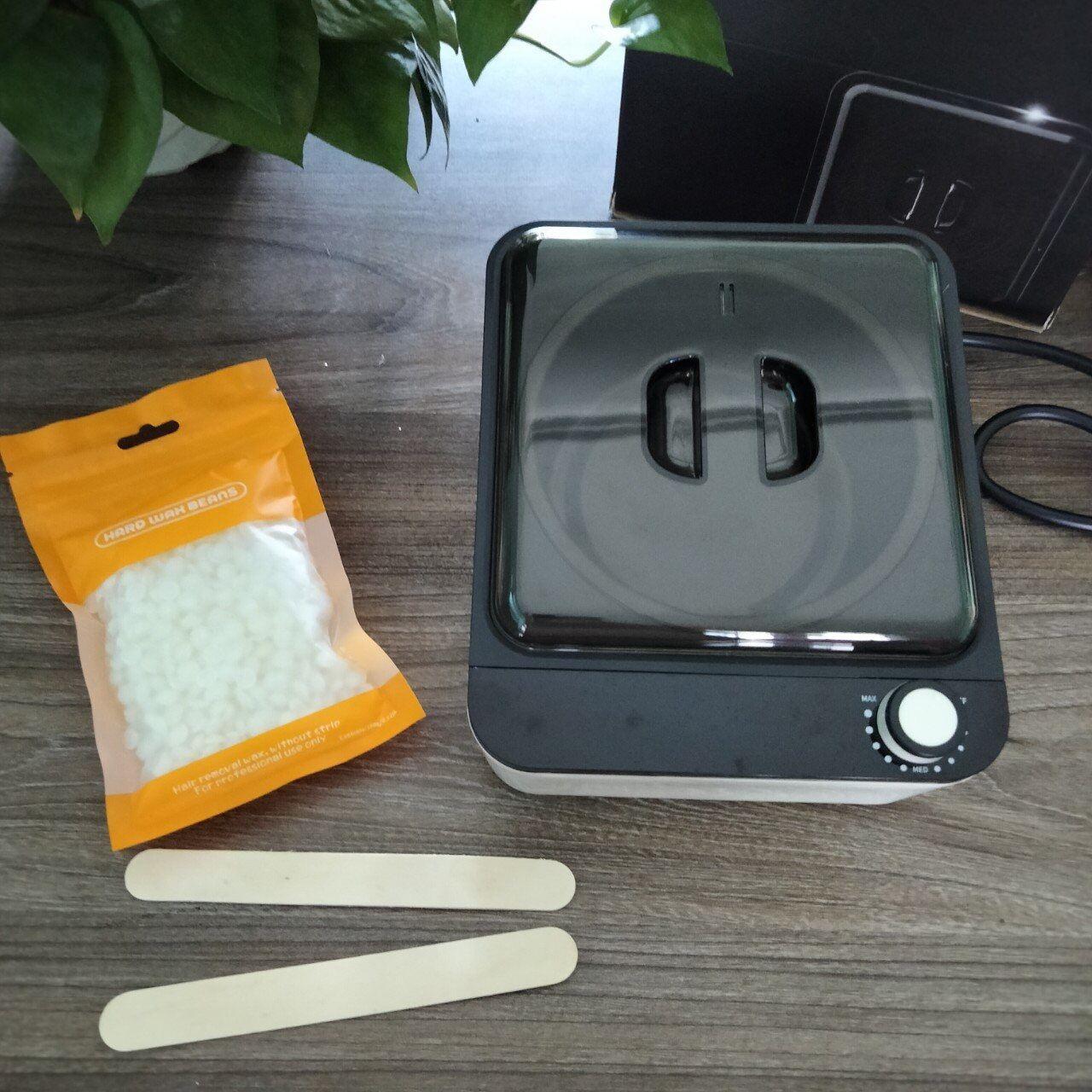 Combo Nồi nấu sáp chống dính+ 100g sáp sữa dừa tặng kèm que gỗ