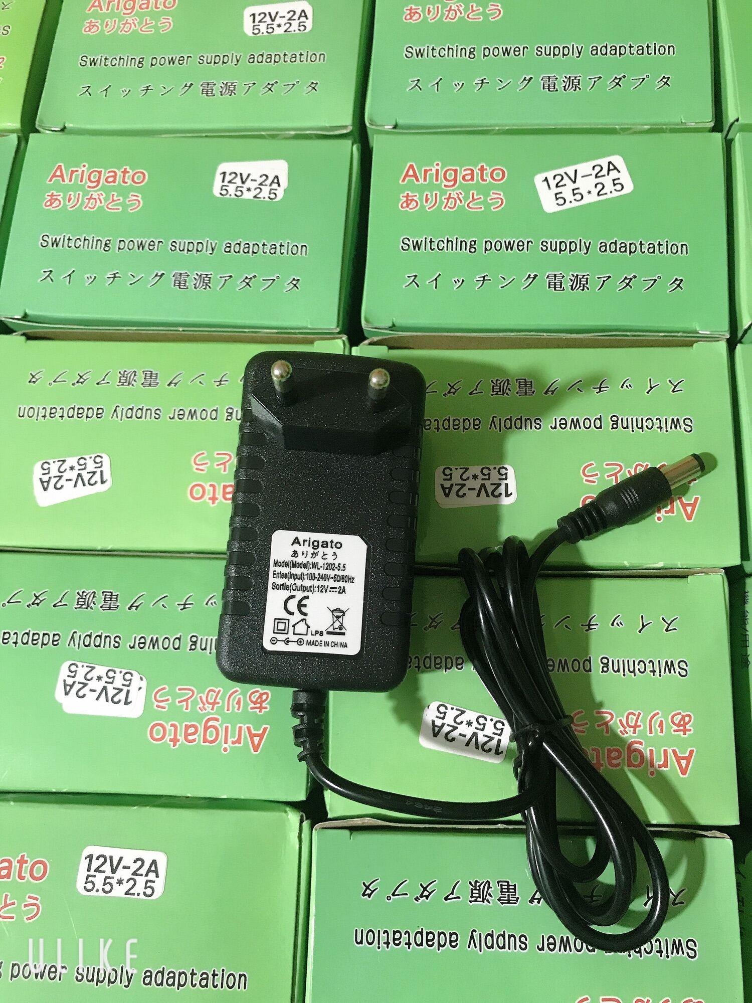 Nguồn 12v 2a chân to 5.5 dung cho camera và đèn led chất lượng đảm bảo an toàn đến sức...