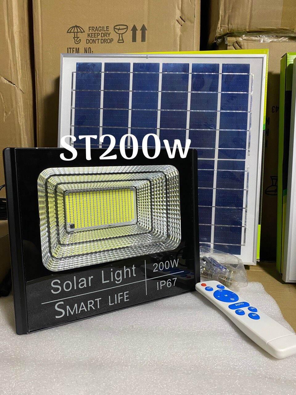 Đèn năng lượng mặt trời 200w chính hãng Solar bảo hành 24 tháng