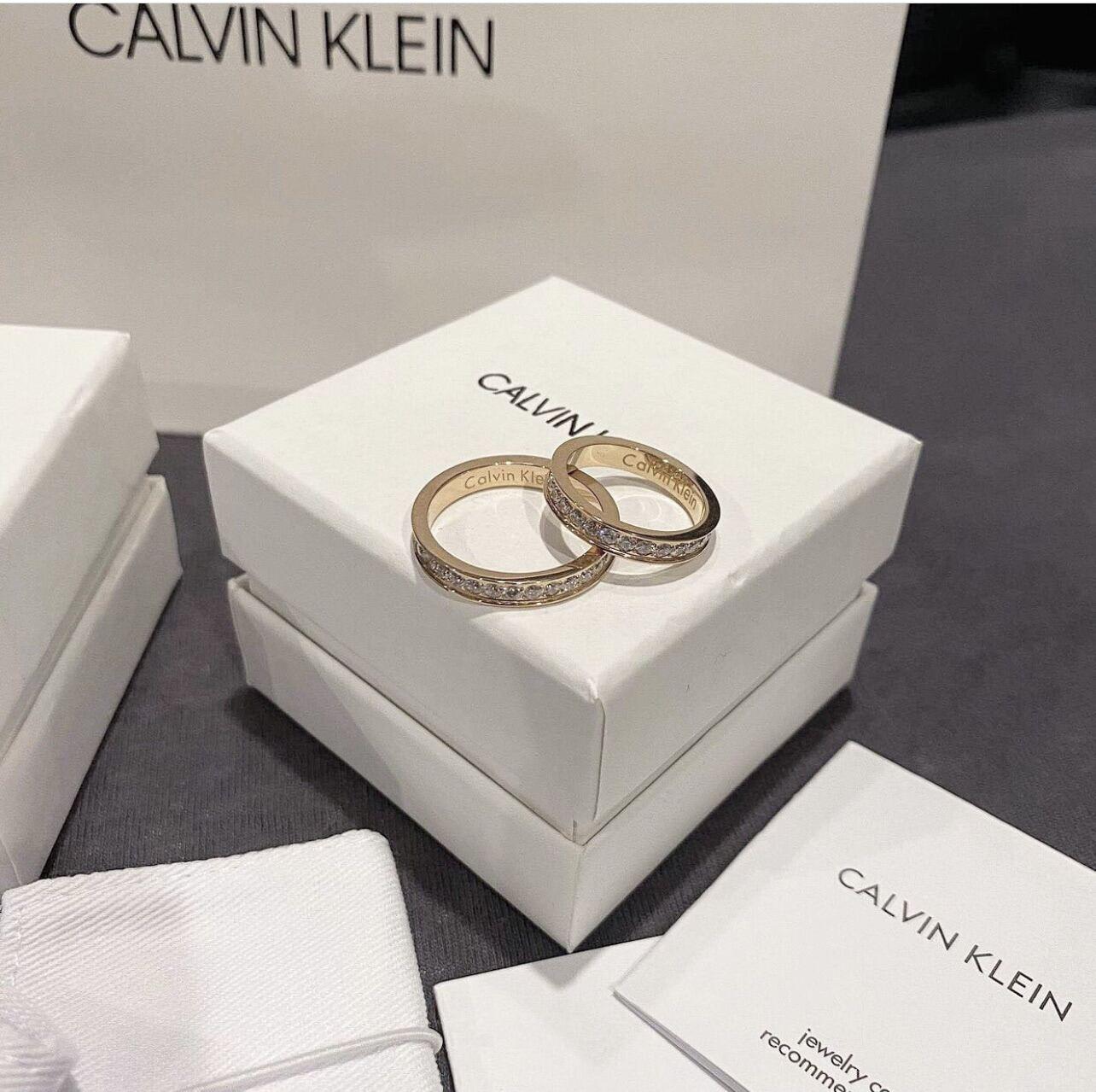 Nhẫn ck Calvin Klein diamond fullbox bill