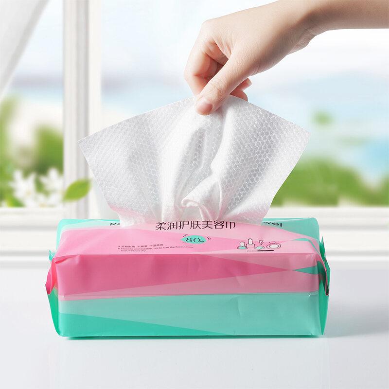 Một Lần 100% Coton Khăn Rửa Mặt Giấy Rút Phong Cách Du Lịch Lau Mặt Làm Đẹp Trang Điểm Làm Sạch Bông Mềm Chuyên Dụng Dày Hơn Của Phụ Nữ thumbnail