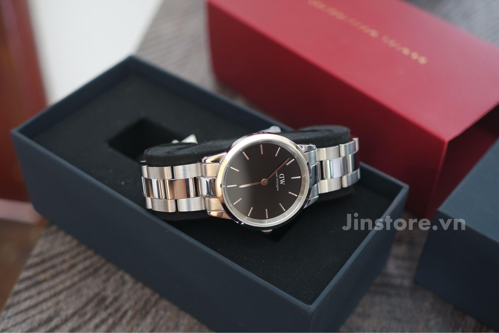 Đồng hồ nữ DW Iconic Link 32 Silver (Black) - DW00100206