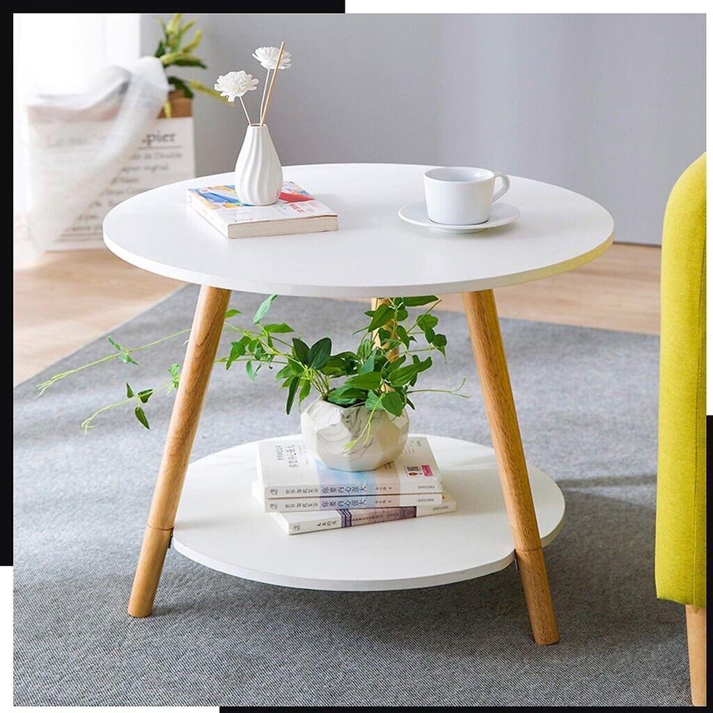 Bàn Trà Cafe , Bàn sofa phòng khách GP54.01 trắng