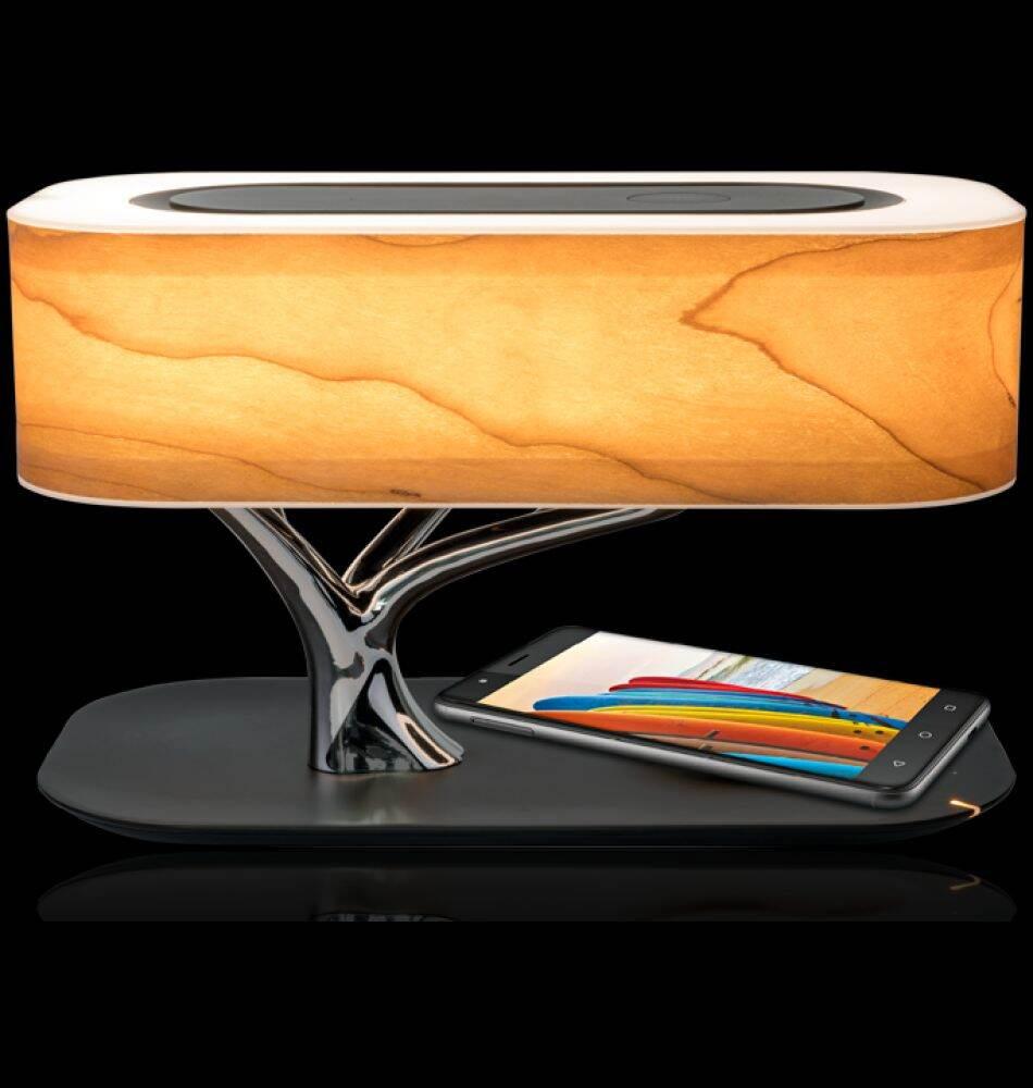 Loa Đèn Bluetooth Promate Bonsai - Qi. US Wireless Tích hợp sạc không dây 5W, Đèn ngủ tăng giảm sáng cảm biến. Hàng chính hãng thumbnail