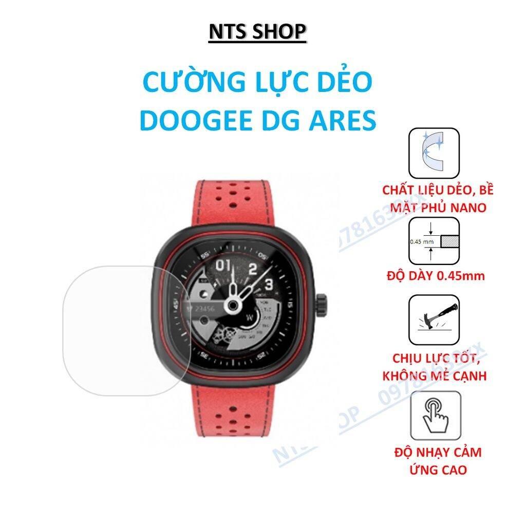 Cường lực dẻo (2 miếng) bảo vệ màn hình smartwatch DooGee DG Ares