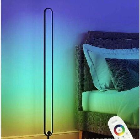 Đèn led Elip đứng RGB 2021 trang trí phòng khách, phòng ngủ, phòng game, điều khiển qua App-Corner light minimalism