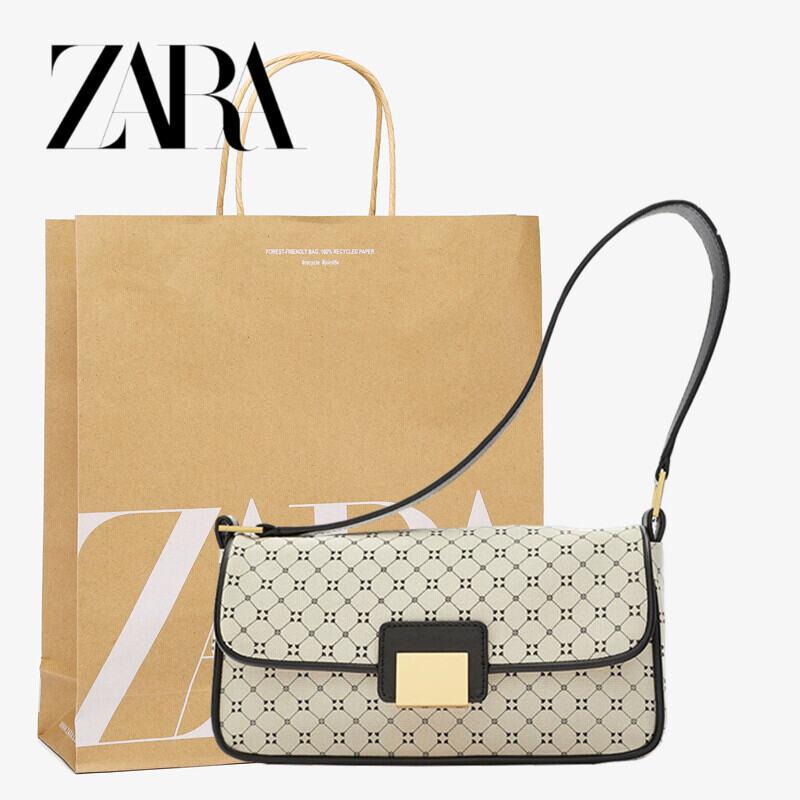 Zara Home Nhiều Kiểu Phối Đồ Túi Sách Nữ 2020 Mẫu Mới Phối Màu Hình Học Hoa In Sát Nách Túi Kiểu Một Quai Xách Tay Bánh Mì Pháp Gói thumbnail