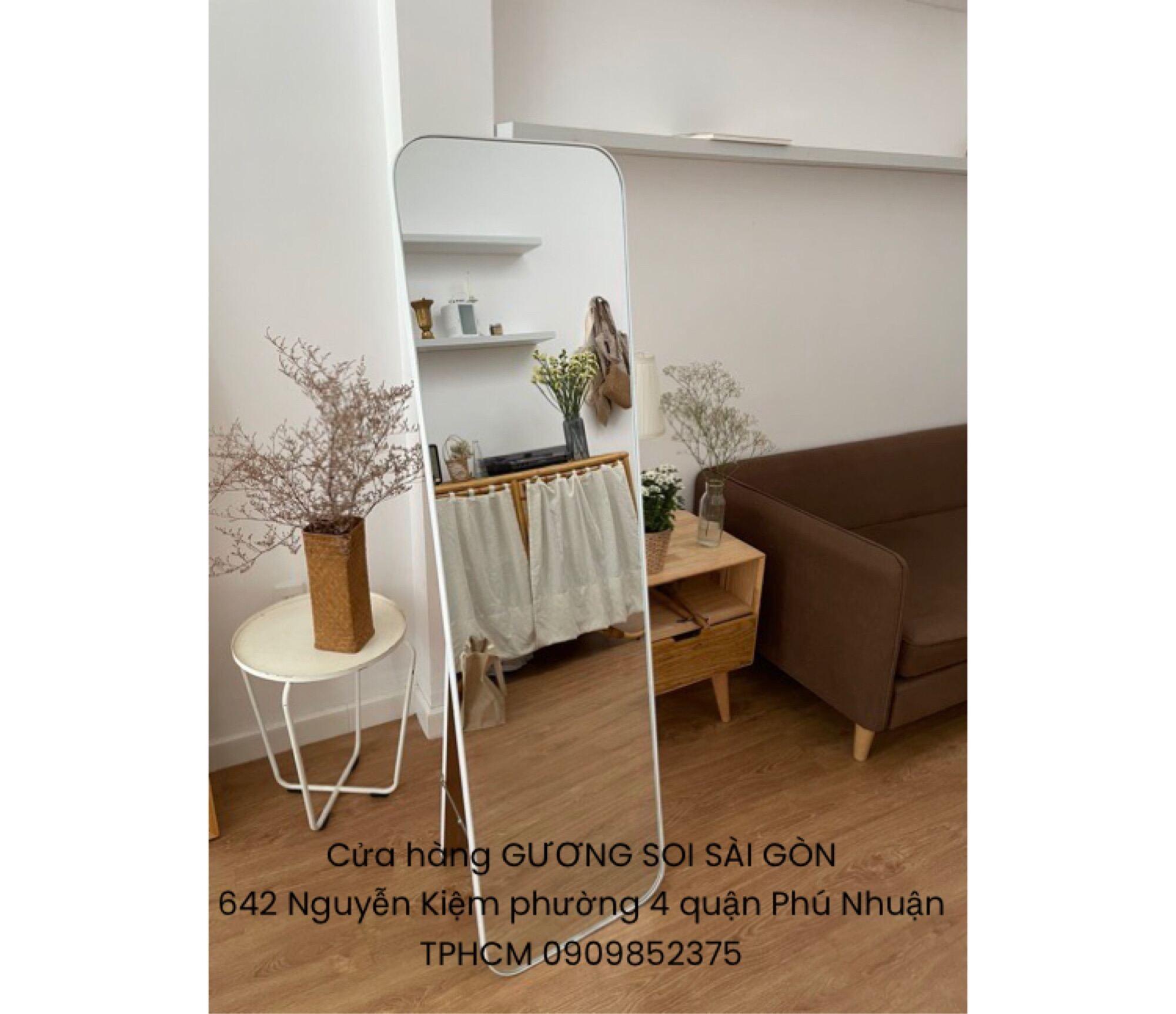 Gương soi toàn thân viền nhôm có chân tựa 45x160cm giá rẻ