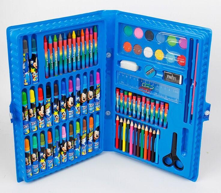 Trẻ Em Vẽ Dụng Cụ Bộ Hộp Quà Sinh Viên Nghệ Thuật Màu Bút Vẽ Một Bộ Đầy Đủ Các Người Mới Bắt Đầu Vẽ Học Cung Cấp Quà Tặng thumbnail