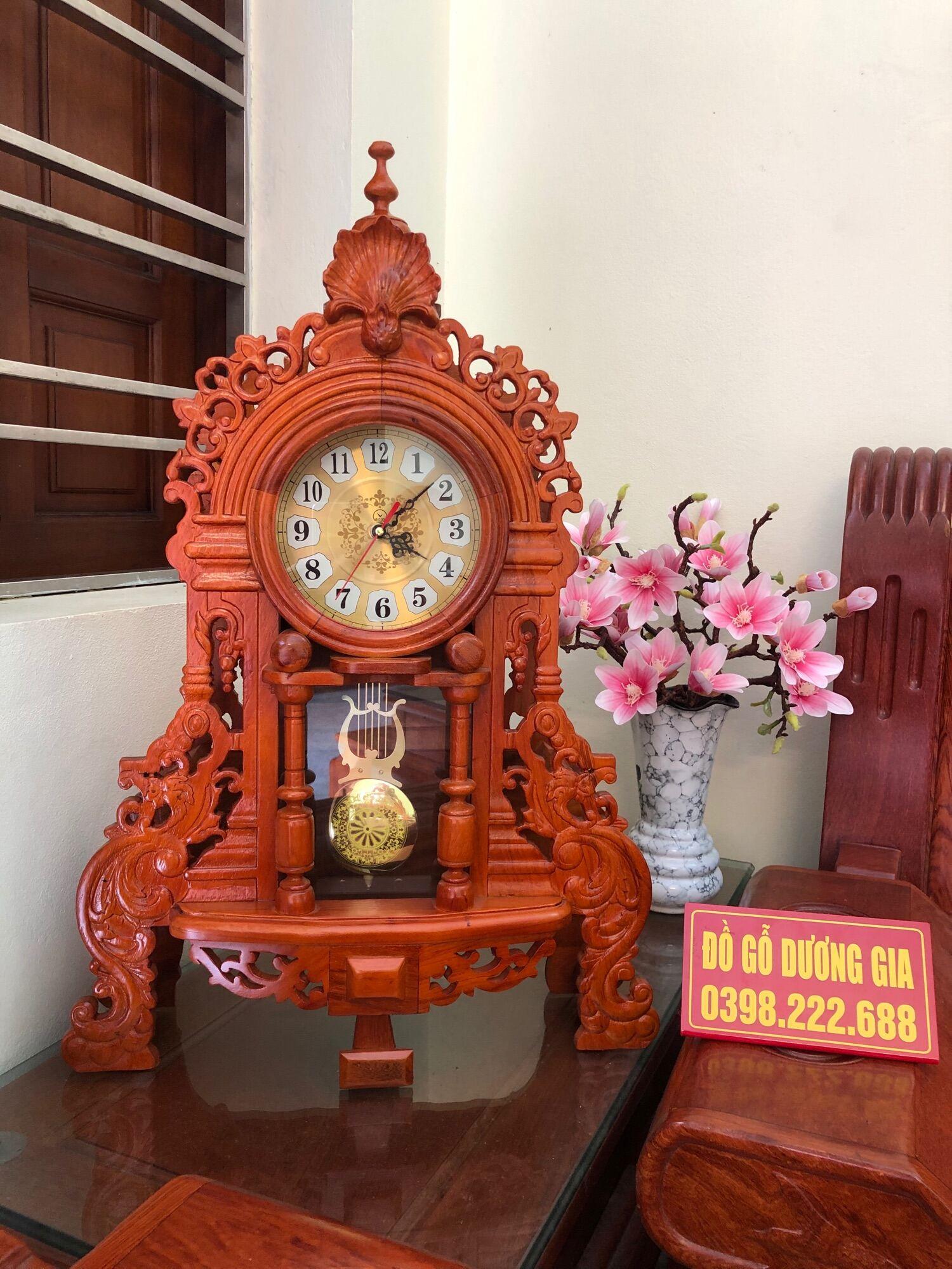 Đồng hồ gỗ gõ, mẫu đồng hồ quả lắc sang trọng