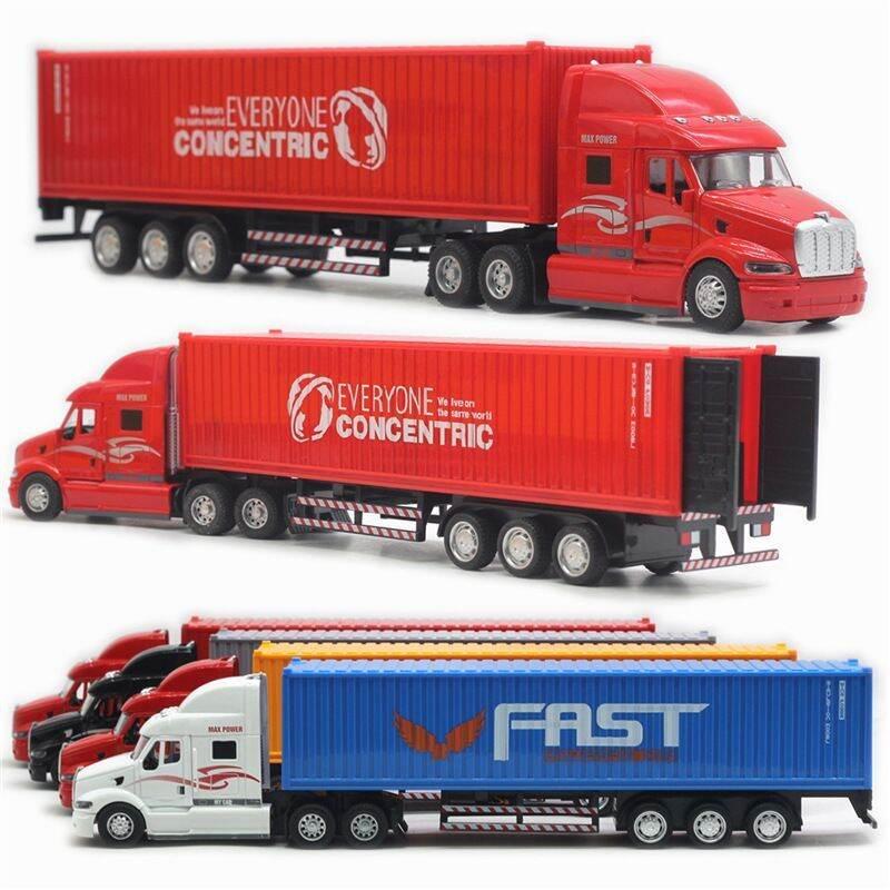 Mô hình đồ chơi xe container hợp kim tỉ lệ 1:48 âm thanh đèn