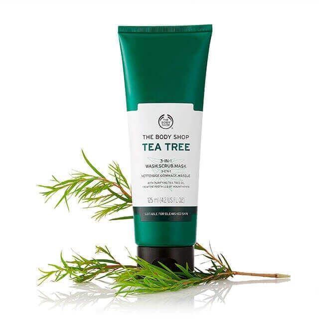 Tẩy tế bào chết THE BODY SHOP Tea Tree 3-in-1 wash scrub mask 125ml
