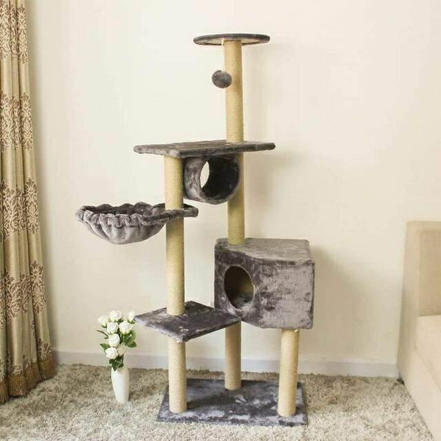 CATTREE nhà cây lớn cho mèo giao mầu ngẫu nhiên