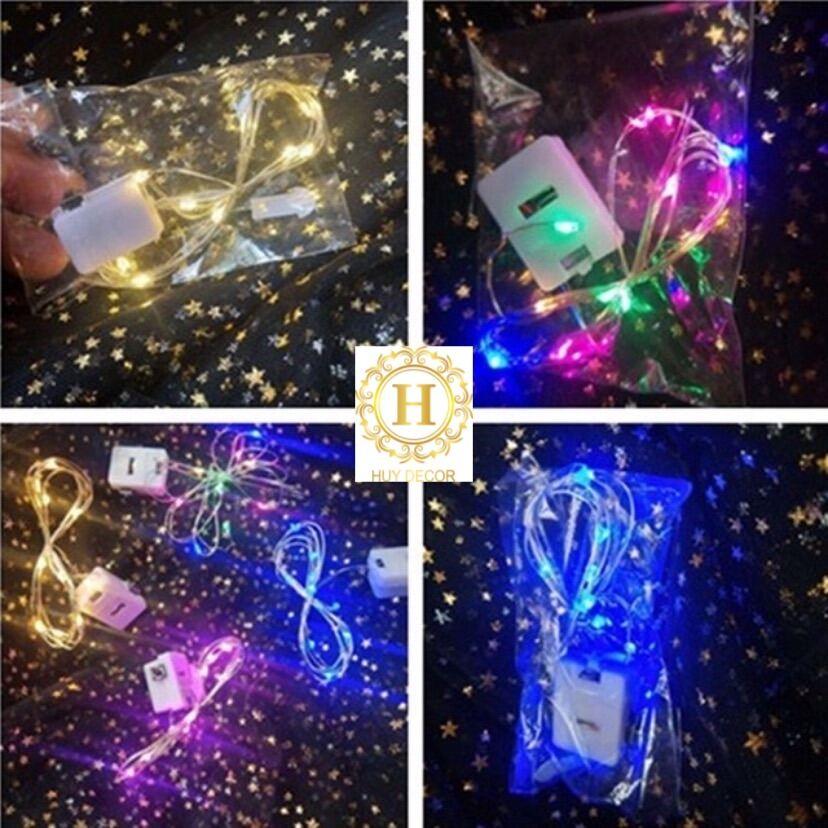 Đèn led đom đóm ,đèn fairylight dài 2 mét và 1 mét dùng pin lr44