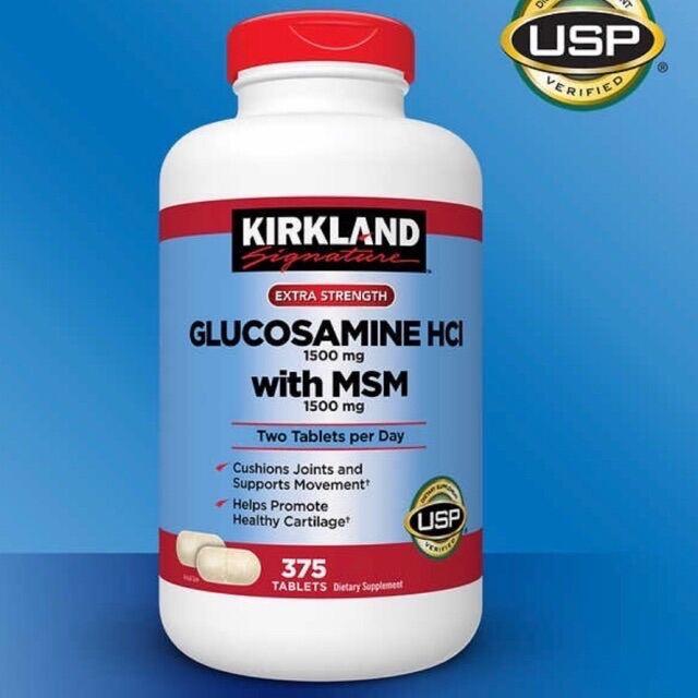 [Hàng Chính Hãng]Viên uống Glucosamine HCL 1500mg Kirkland With MSM 1500mg Hộp 375 Viên Date 2024 giá rẻ