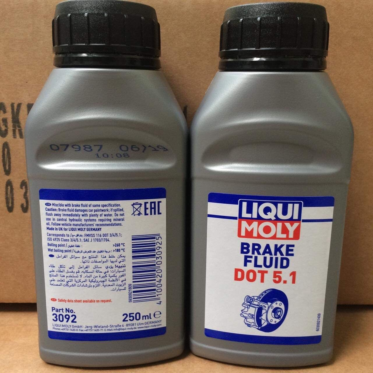 Dầu Thắng Cao Cấp Cho Hệ Thống ABS Liqui Moly Brake Fluid DOT 5.1 Made in Germany
