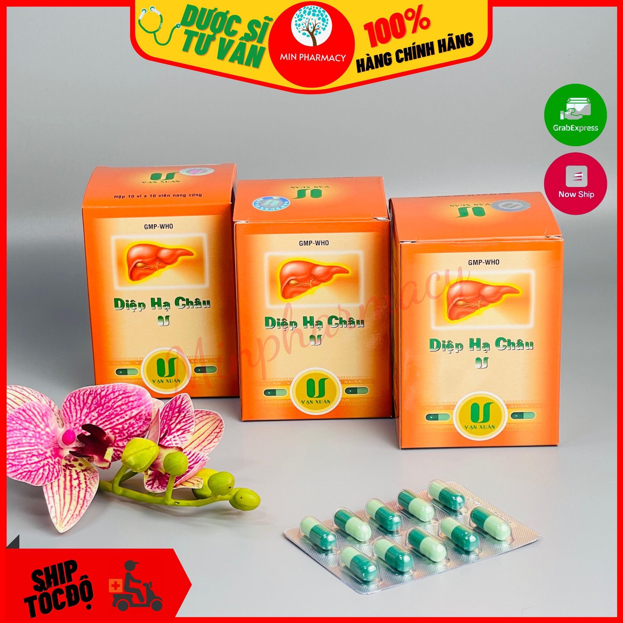 Viên Uống Diệp Hạ Châu VẠN XUÂN Giải độc Mát gan Hộp 100 viên - Minpharmacy thumbnail