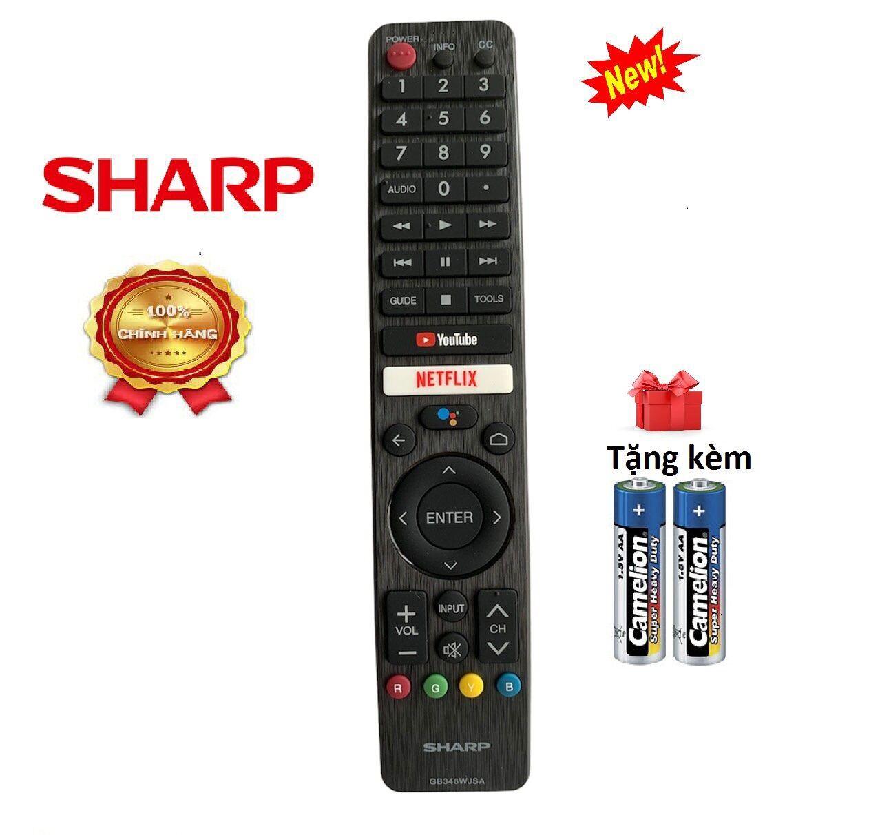 Bảng giá Điều khiển tivi Sharp giọng nói GB346WJSA - Hàng chính hãng [tặng kèm pin]