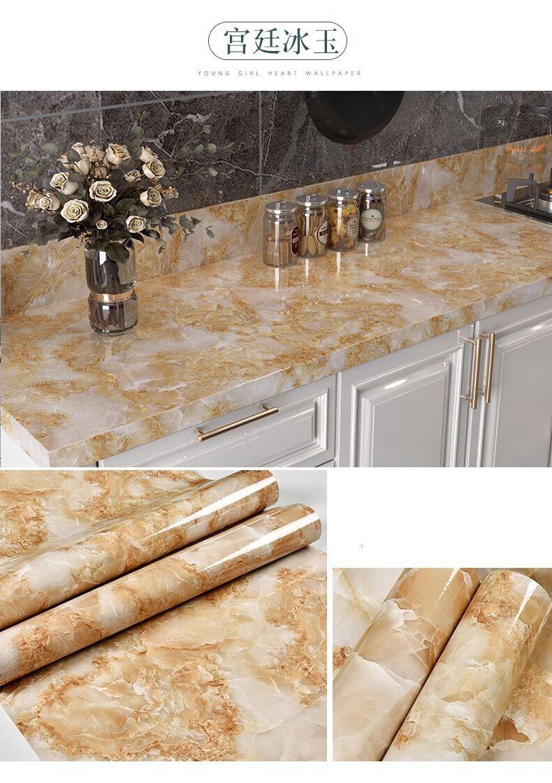 5M giấy dán tường nhà bếp nhà tắm mẫu mới keo sẵn khổ 60 cm