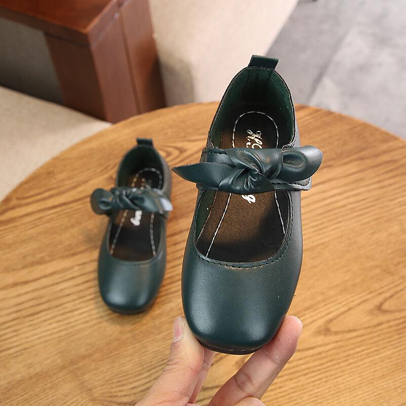 2021 Mùa Xuân Kiểu Hàn Quốc Giày Bé Gái Mẫu Mới Cho Trẻ Em Giày Công Chúa Học Sinh Kiểu Hàn Quốc Giày Da Thông Dụng Bé Giày Giày Tods thumbnail