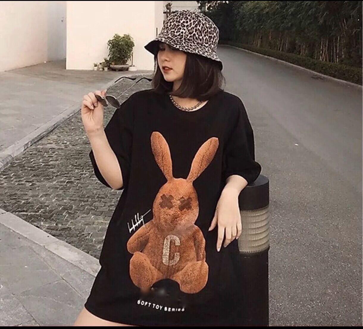 [HCM]Áo Thun Unisex Nam Nữ Form Rộng Tay Lỡ Thời Trang Hàn Quốc THỎ NÂU Men Lì Fashion Độc Đẹp Vải Dày Mịn Thoáng Mát Thiết Kế Thời Trang Kiểu Dáng Năng Động Trẻ Trung [ CÓ HÌNH ẢNH VIDEO THẬT ]