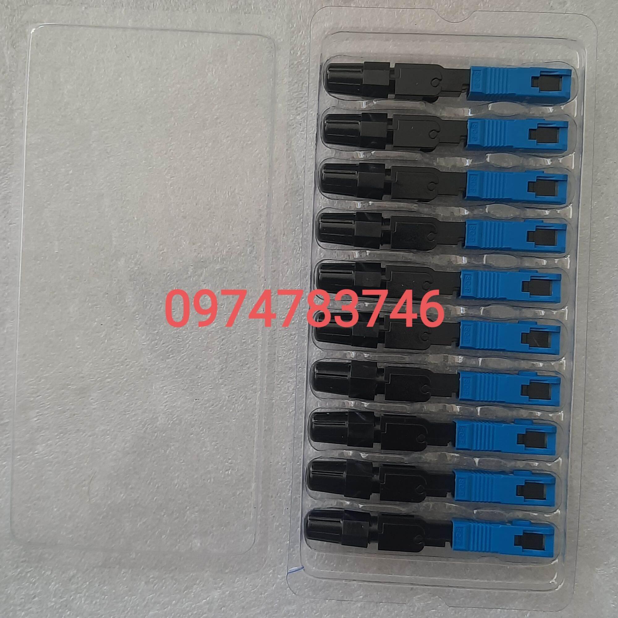 Bảng giá 10 Đầu nối nhanh sợi quang Fast Connector FTTH SC UPC SC APC rệp nối quang Phong Vũ