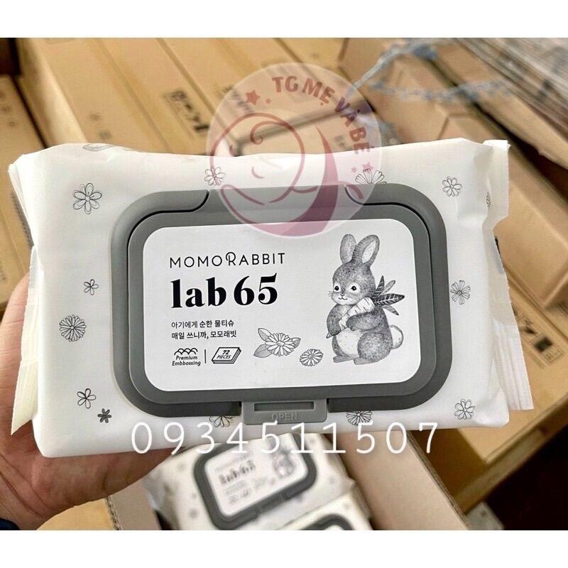 Khăn giấy ướt Momo Rabbit Hàn Quốc Lab65 loại 20tờ 72 tờ thumbnail