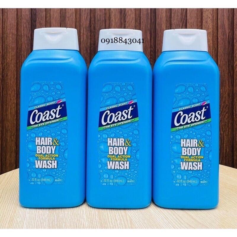 Sữa tắm gội dành cho Nam Coast Classic Hair & Body Wash 946 ml Mỹ giá rẻ