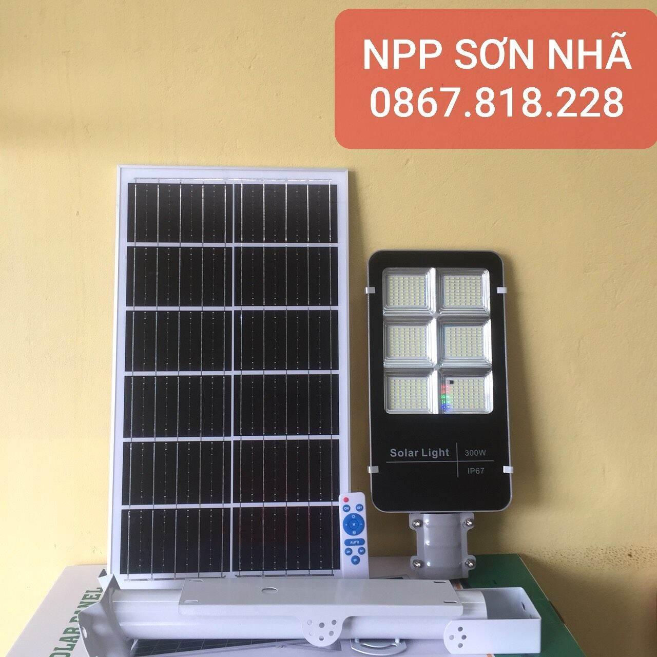 Đèn năng lượng mặt trời bàn chải 300W