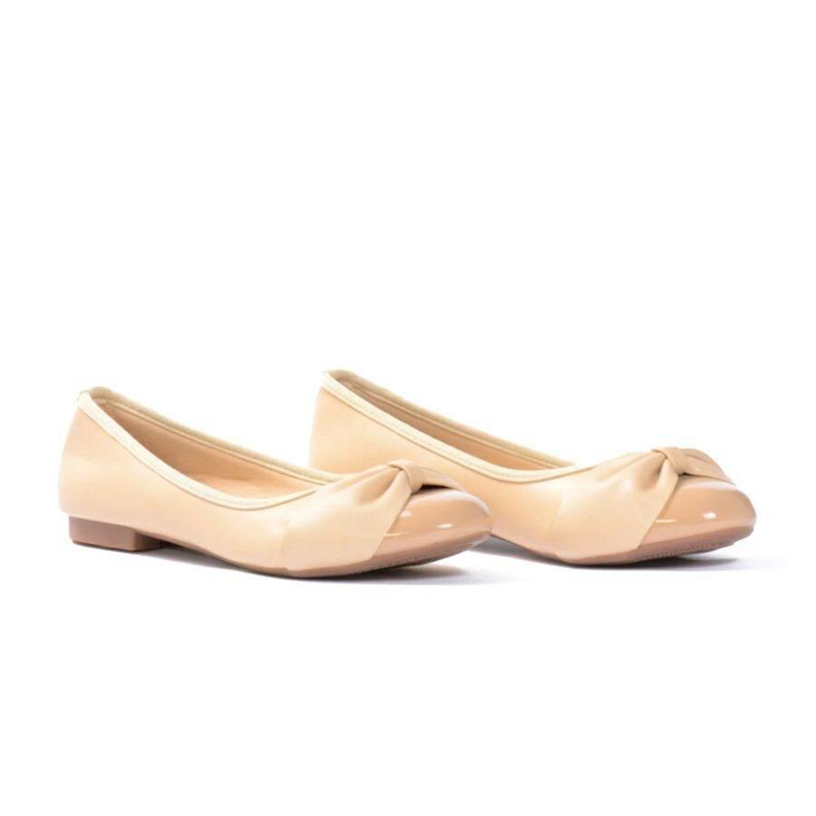 Giày Búp Bê Mũi Tròn Phối Nơ thumbnail