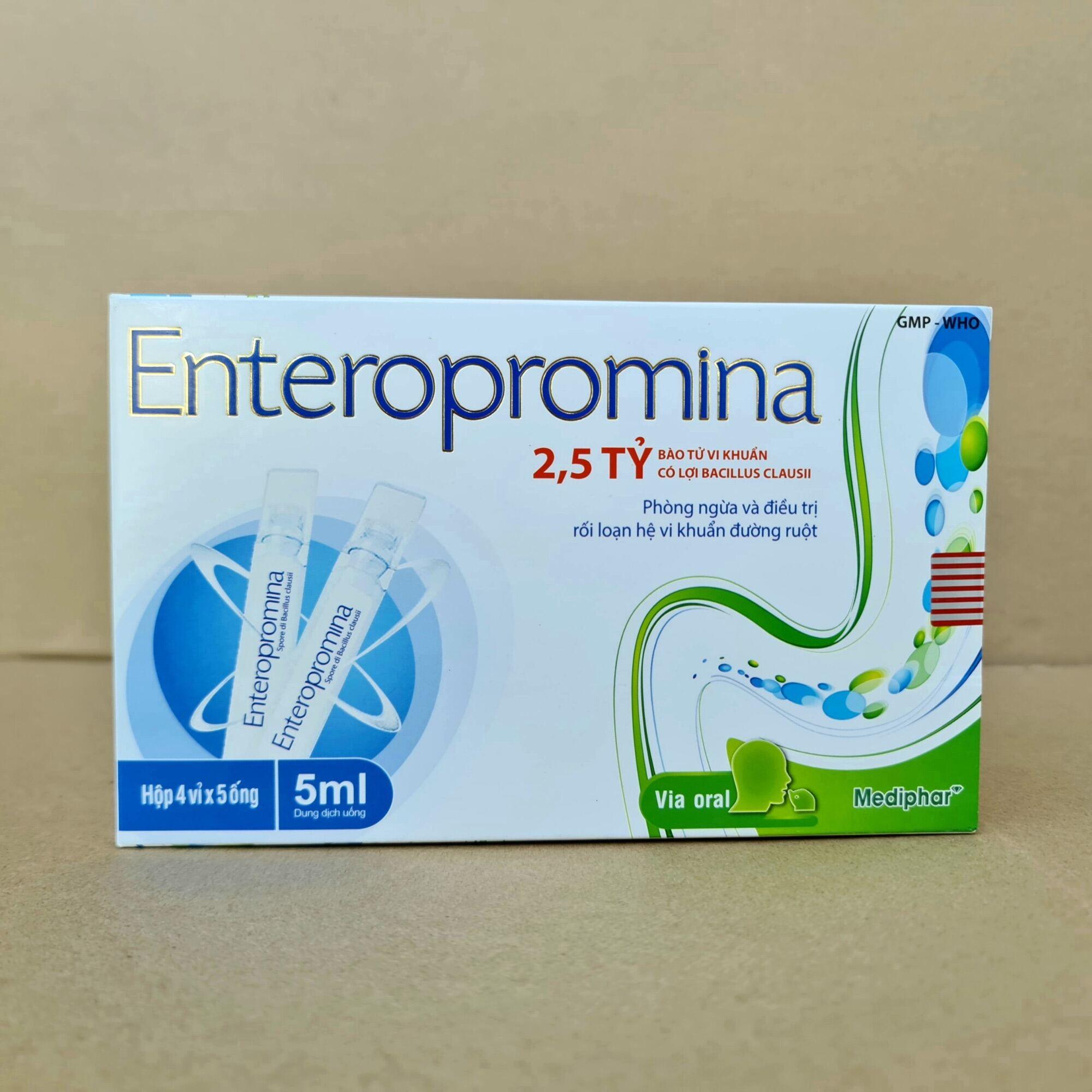 Men vi sinh enteropromina giúp cân bằng hệ vi sinh đường ruột (Hộp 20 ống) nhập khẩu