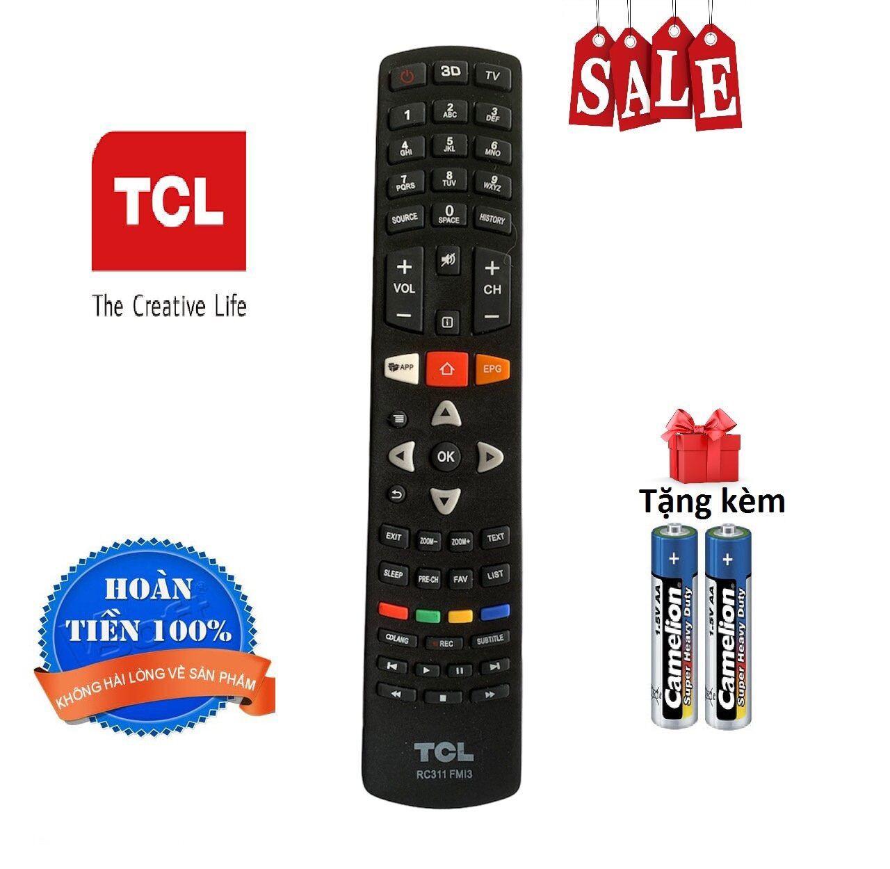 Bảng giá Điều khiển tivi TCL - Hàng tốt [ tặng kèm pin ]