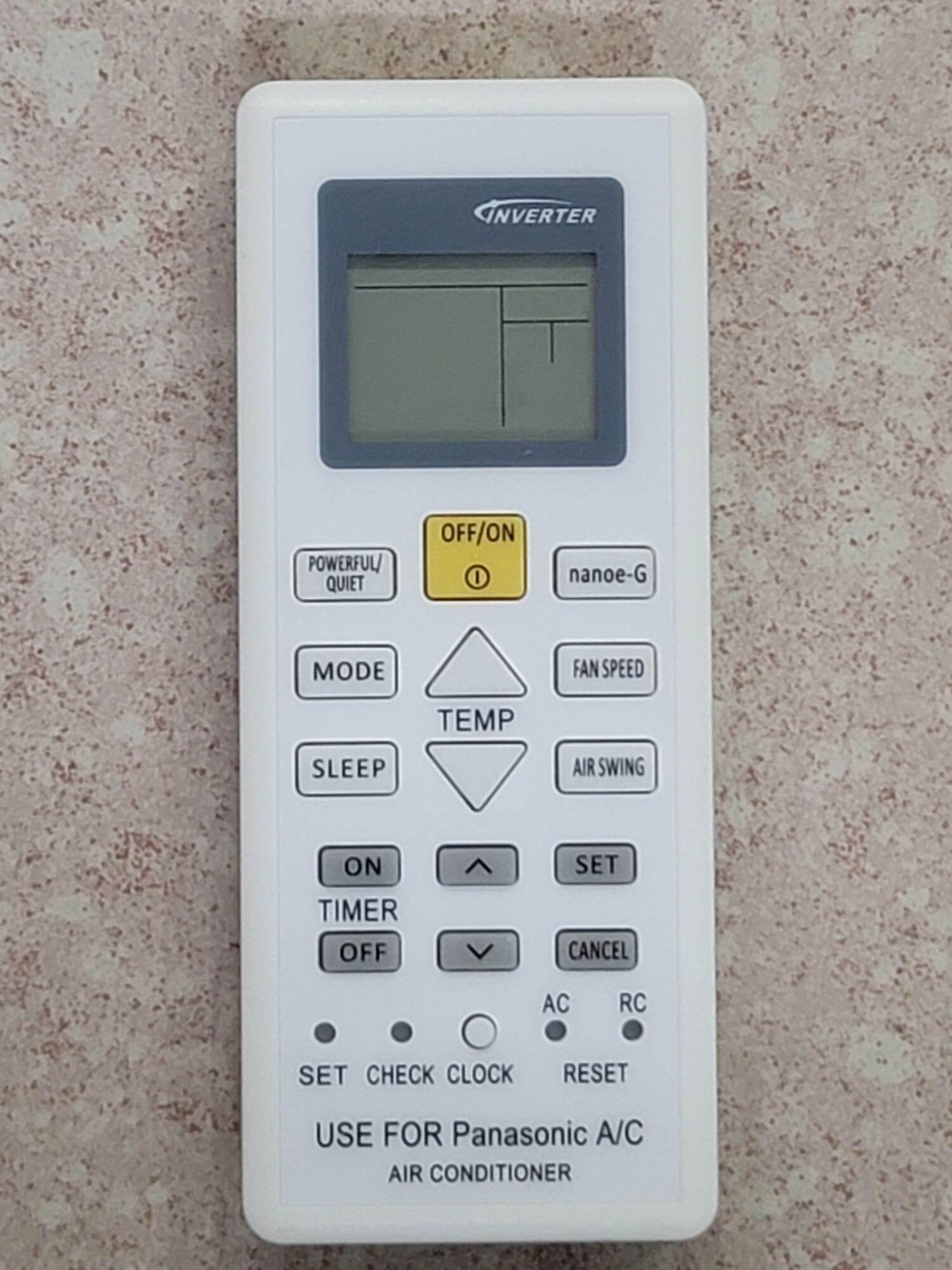 remote Khiển máy lạnh panasonic dòng PUxUKH, PUxUKH-POWEFUL/QUIET