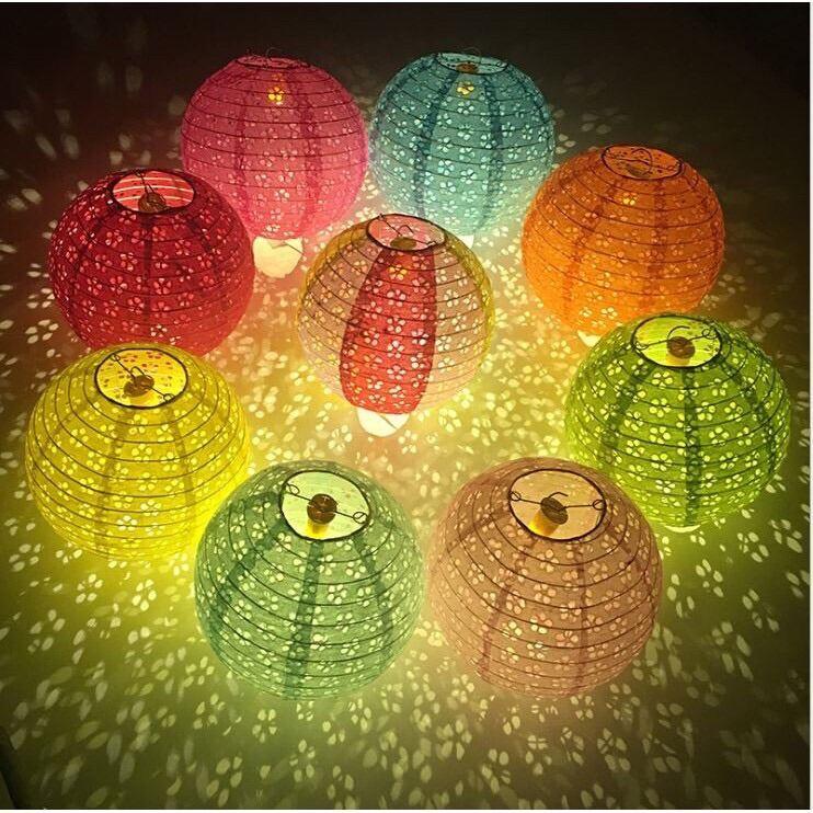 Đèn lồng giấy ánh sáng xuyên qua 30cm - đèn lồng trang trí