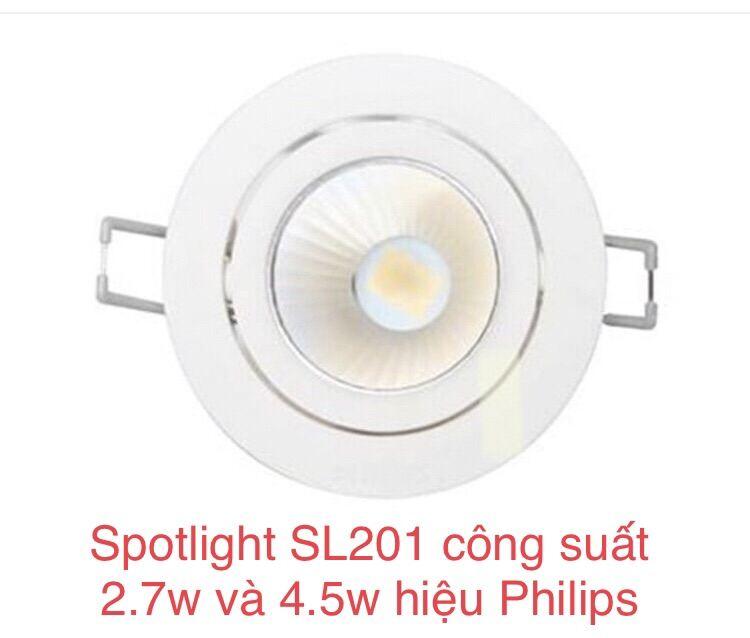 Đèn chiếu điểm Spotlight SL201 công suất 2.7w và 4.5w |thương hiệu Philips chính hãng|