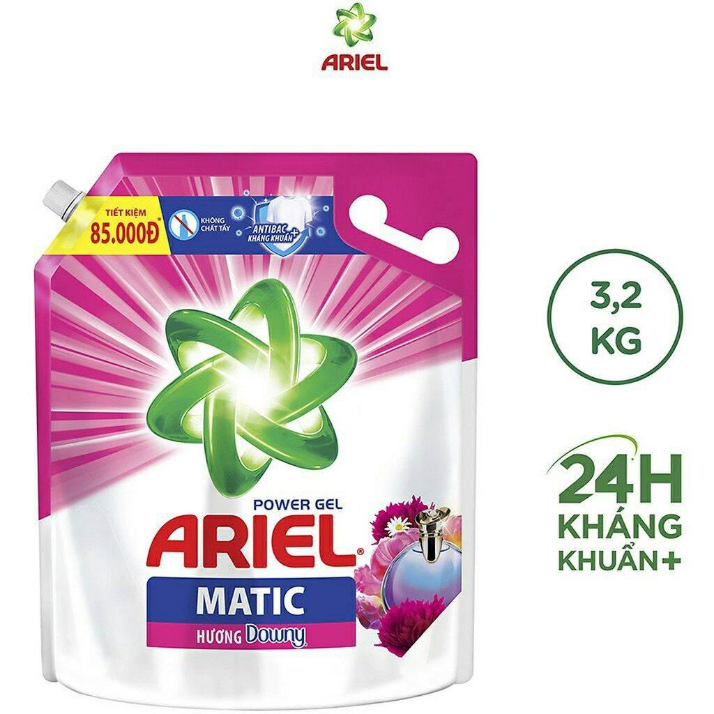 Nước giặt Ariel Matic hương Downy túi 3,25kg. Date 11/2023