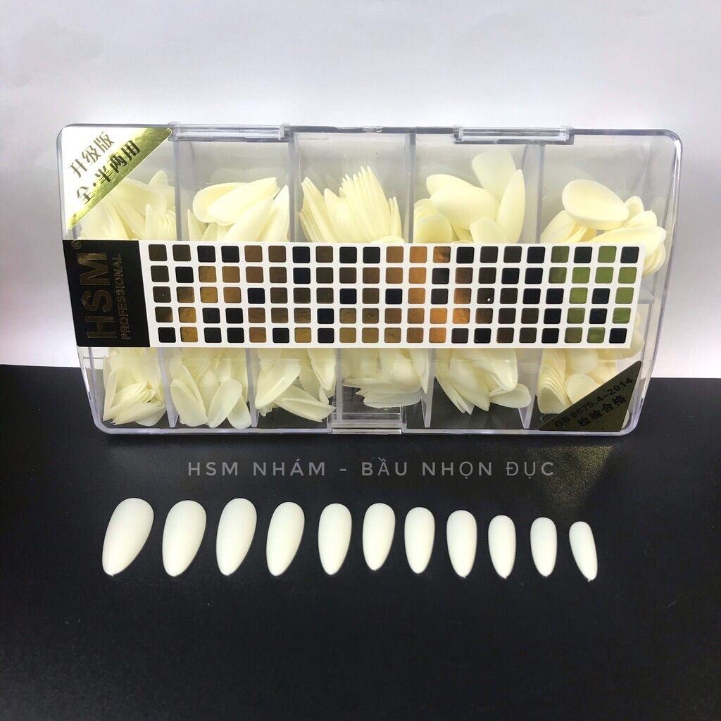 Móng Úp HSM phom Bầu NHÁM sẵn - Hàng loại 1- Hộp 500 móng đủ size giá rẻ