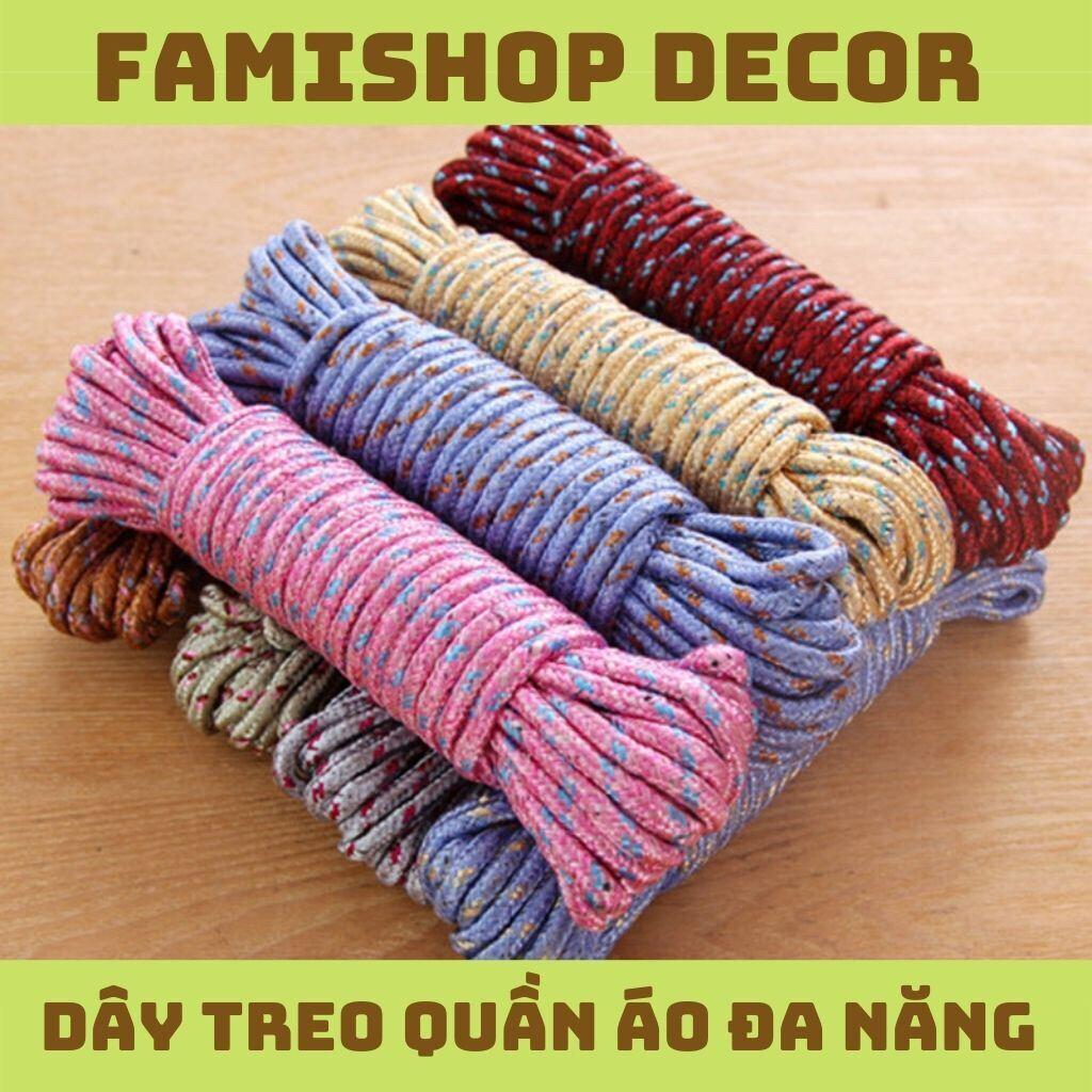 Dây treo phơi quần áo dài 10m chất liệu nylon bền bỉ phù hợp cho gia đình thumbnail