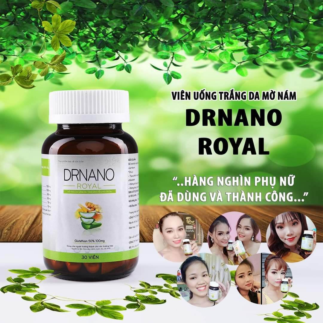 {Mua 1 tặng 4} COMBO 10 hộp Viên Uống Trắng Da Dr Nano Minh Lady Beauty (tặng com bodo dưỡng a)
