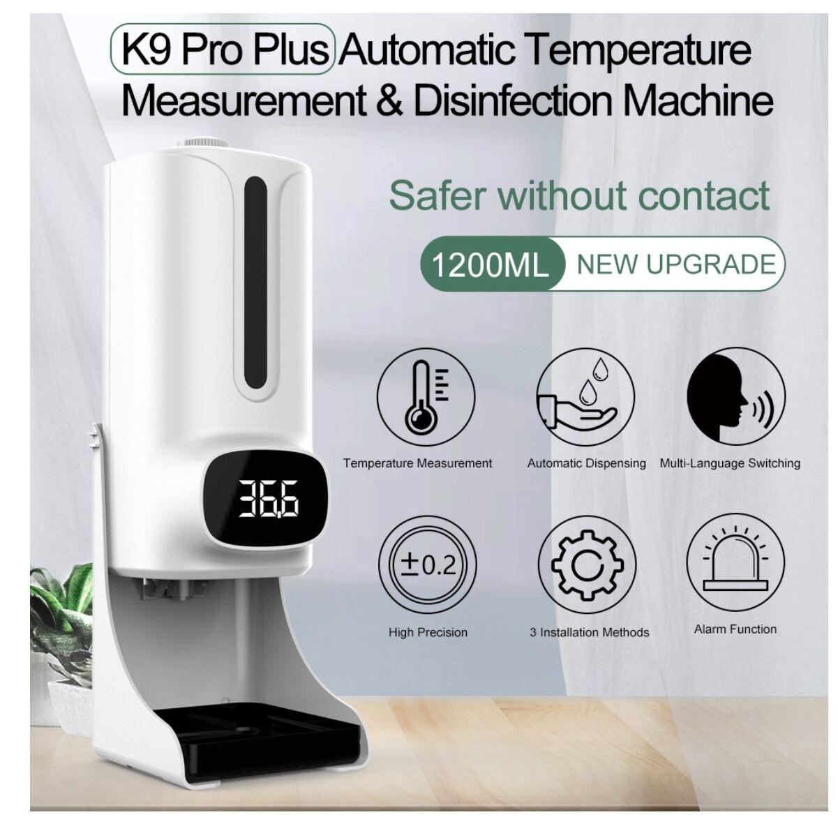 Máy đo thân nhiệt, sát khuẩn K9 Plus Pro bán chạy