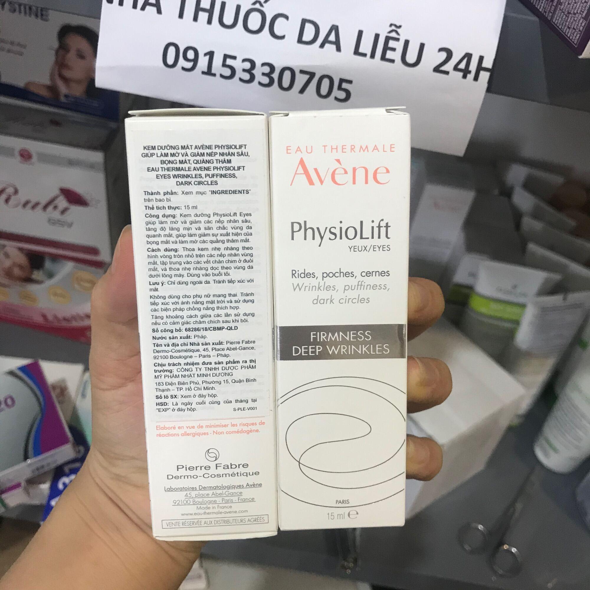 Kem chống lão hoá Mắt Avene Physiolift eye 15ml giá rẻ