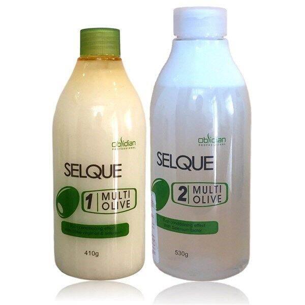 Thuốc uốn tóc (Uốn lạnh) Obsidian Selque Multi Olive  Dung tích:410ml/530ml