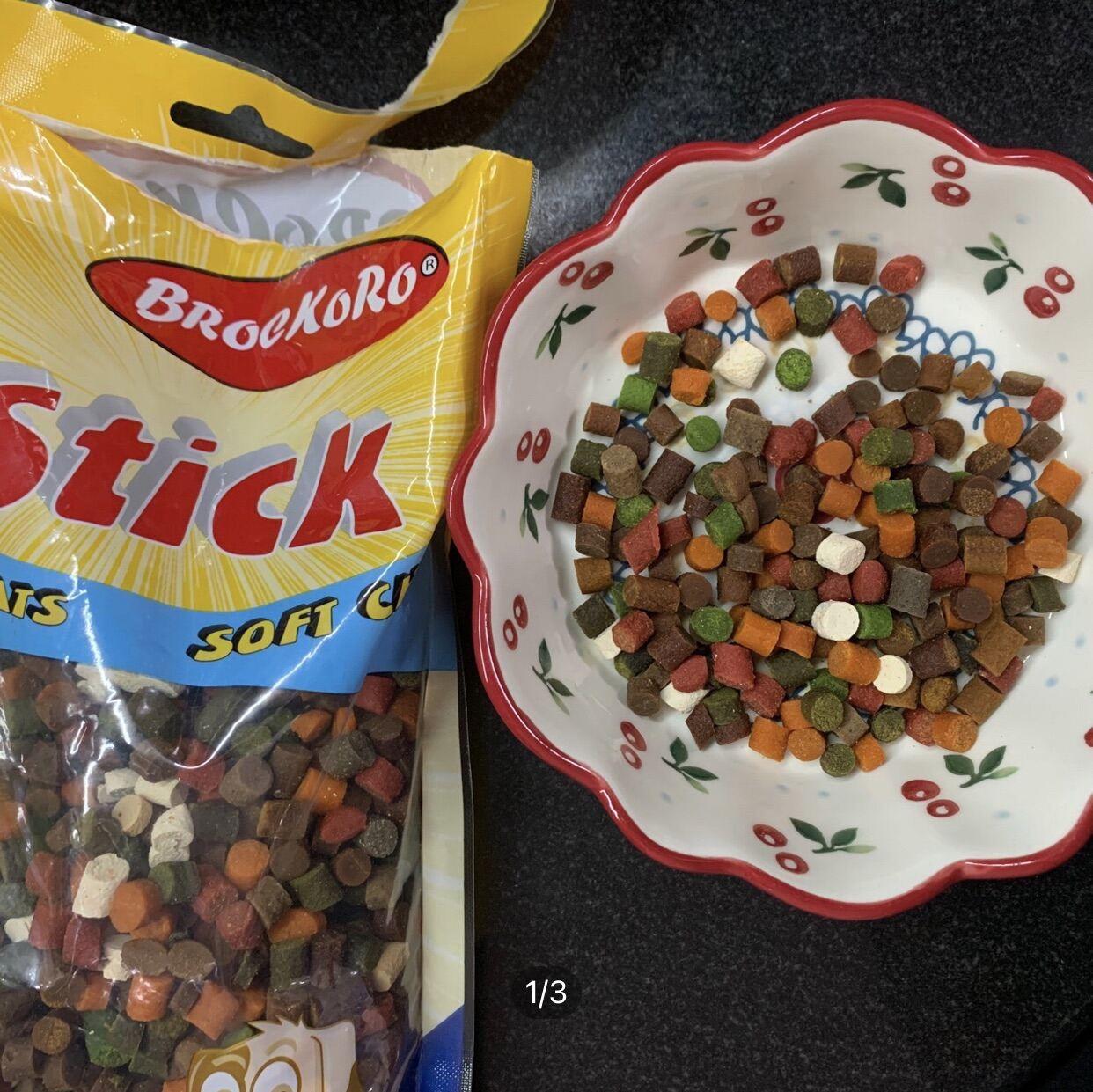 Thức ăn vặt Brockoro thơm mê tít cho chó mèo (gói chiết 50g)