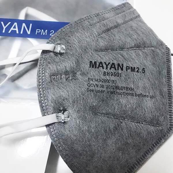 Combo Khẩu trang than hoạt tính N95 MAYAN PM 2.5 5gói x2 cái thumbnail